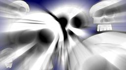 Skulls with volumetric light effect Animation