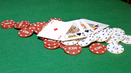 Poker Chips Grabbed By Other Player stock footage