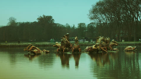 The Fountain of Apollo (French: Bassin d'Apollo)at Footage