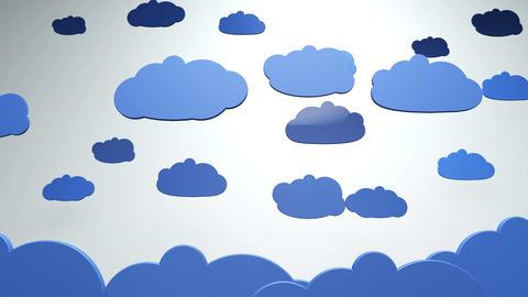 4K Cartoony Clouds 1 Animation