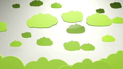 4K Cartoony Clouds 3 Animation