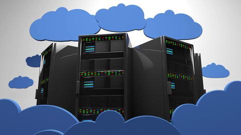 4K Cloud Servers 4 Animation