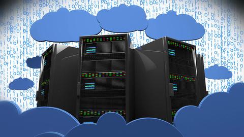 4K Cloud Servers 14 Animation