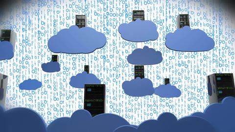 4K Cloud Servers 16 Animation