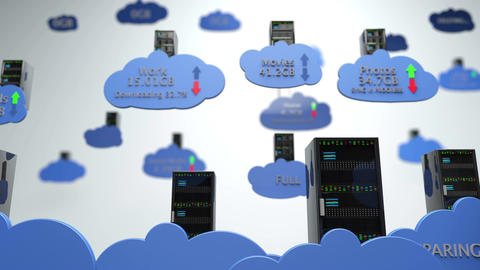 4 K Cloud Servers 21 DOF Animation