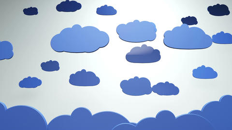 Cartoony Clouds 1 stock footage