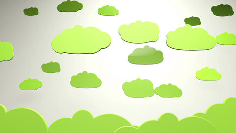 Cartoony Clouds 3 Animation