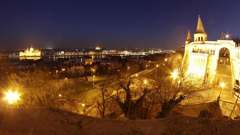 Castle of Buda Budapest Hungary Timelapse1 fisheye Footage