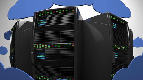 Cloud Servers 6 fisheye Animation