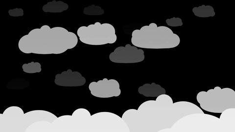 Clouds Silhuette 2 Animation