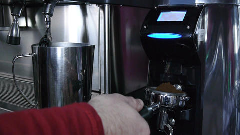 Grinding Coffee stock footage
