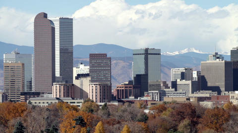 Downtown Denver Zoom Out Footage