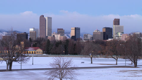 Beautiful Denver Sunrise in Winter Footage