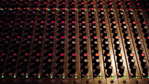 Audio Mixing Board Zoom In Footage