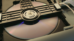 DVD Player Internal View And Disc Being Loaded Sto stock footage