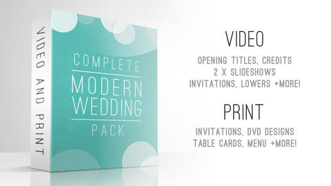 Complete Modern Wedding Pack After Effectsテンプレート