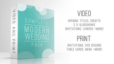 Complete Modern Wedding Pack After Effects Project