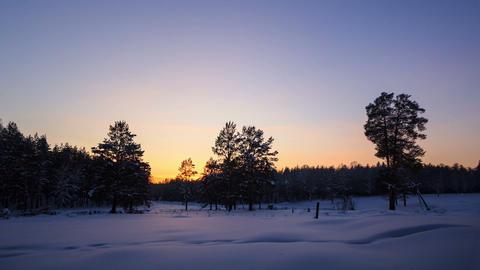 Sun Set, moonlight illuminates the field. Time Lap Footage