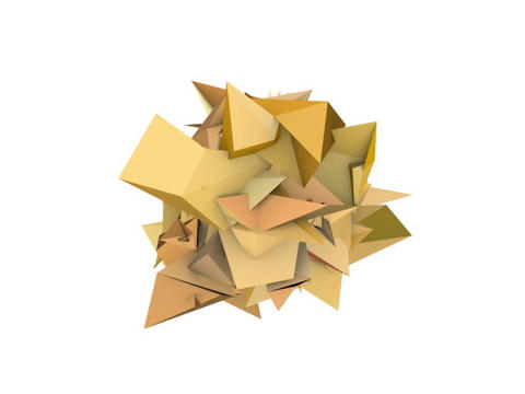 3d abstract orange spiked shape on white Animation