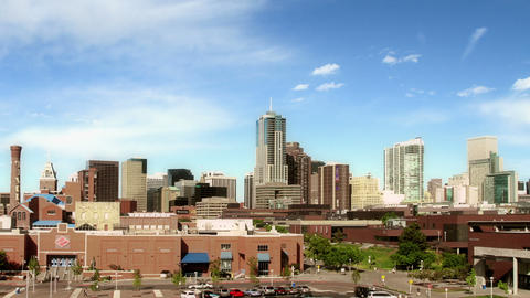 Downtown Denver and Auraria Campus at Nightfall ビデオ