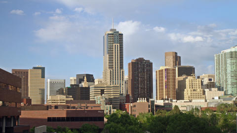 Denver Skyline With Four Seasons Hotel stock footage