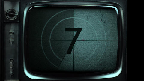 Vintage Film Countdown In TV stock footage