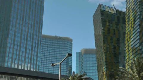 LAS VEGAS, CIRCA 2014: Aria Resort And Casino In L stock footage