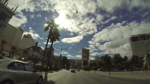 LAS VEGAS - CIRCA 2014: Driving down the Las Vegas Footage