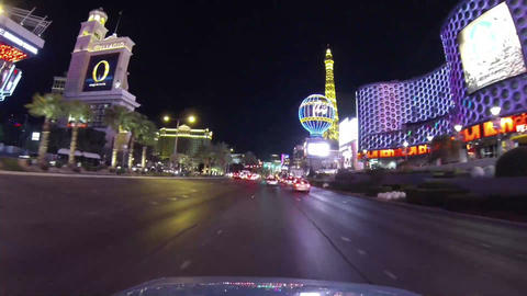 LAS VEGAS, CIRCA 2014: Point Of View Of Traffic An stock footage