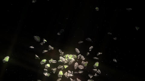 Asteroid Field In Space: Looping stock footage
