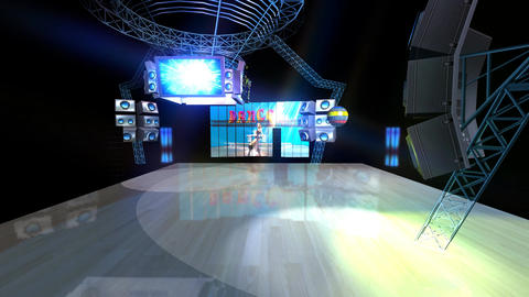 The Dance Floor is Ready! Stock Video Footage