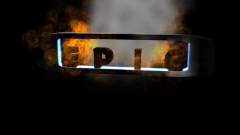 """Fiery Letters: """"Epic"""" + Looping Animation"""
