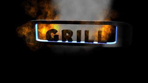 """Fiery Letters: """"Grill"""" (Looping) Animation"""