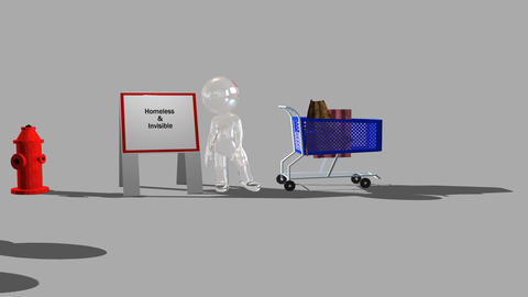 Homeless and Invisible (Indigent Animation) Animation