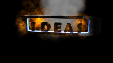 "Fiery Letters: ""Ideas"" (Looping) Animation"