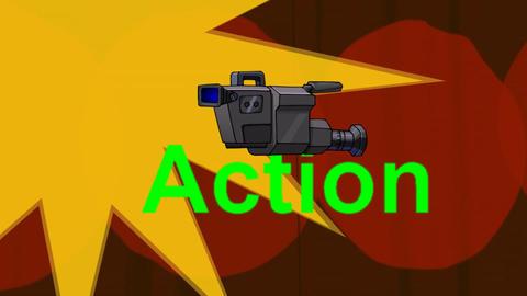 Lights, Camera, Action! (Animated + Looping) Animation
