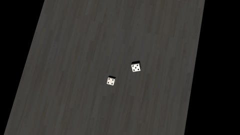 Lucky 7, Falling Dice Animation stock footage