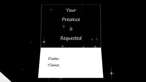Animated Envelope Invitation (River 1 Scene) stock footage