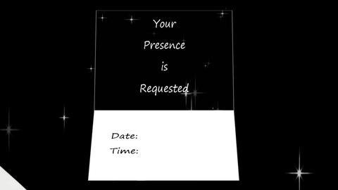 Animated Envelope Invitation: Lake Scene, Stock Animation