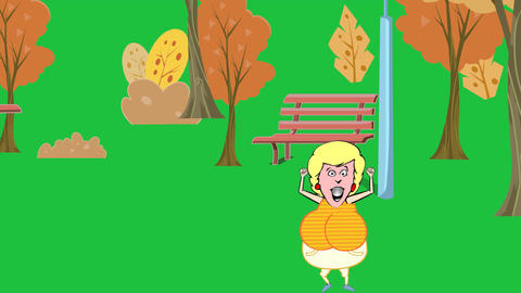 Purse Stolen from Animated Woman (Green Screen Edi Animation
