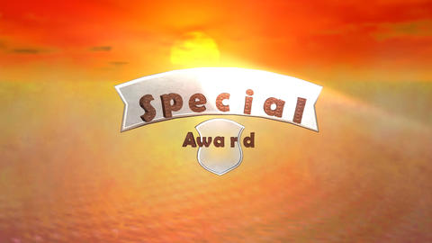 """Special Award"", Animated Presentation stock footage"
