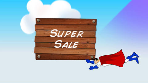 """Super Sale"" Cartoon Promotion (Three segments) Animation"