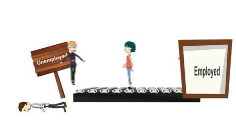 Unemployment Conveyor Animation