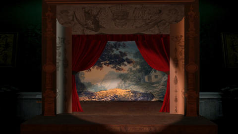 Victorian Theater Backdrop, Stock Animation