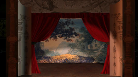 Victorian Theater Backdrop Animation