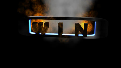 Fiery Letters: Win (Looping) stock footage