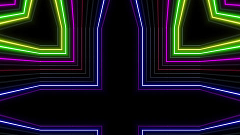 Neon tube Kaleid b D 1h HD Animation