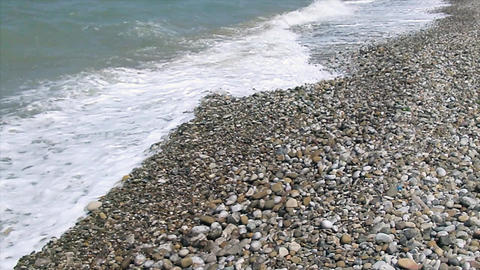 stony beach Footage