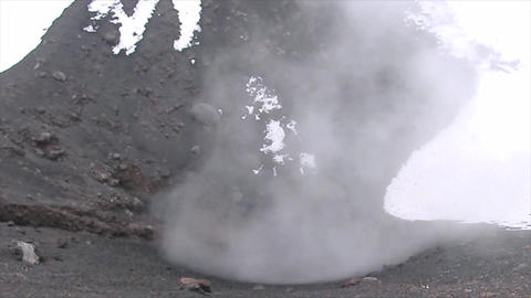 Smoky Volcano stock footage