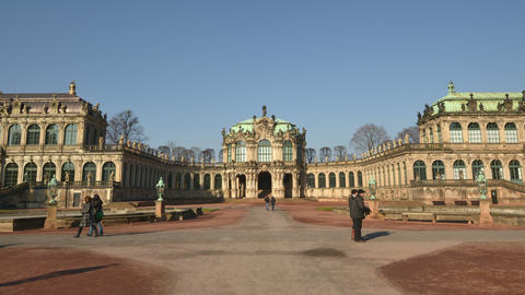 4k UHD Germany Zwinger Palace Hyper Time Lapse 112 stock footage